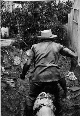 Man & grave
