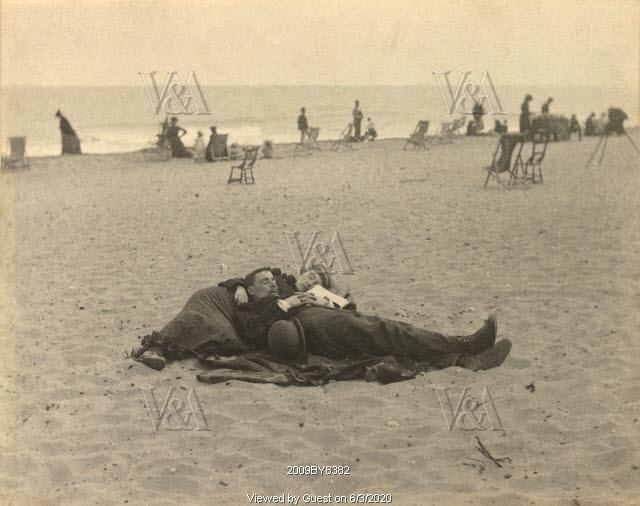 On Yarmouth Sands, photo Paul Martin. Great Yarmouth, England, 1892
